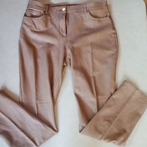 Faux leather chicos so sliming pants